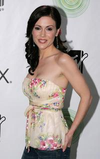 Alyssa Milano at the Xbox's next generation console launch party.