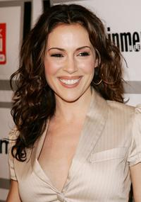 Alyssa Milano at the Entertainment Weekly and Matrix Men upfront party.