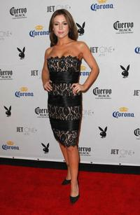 Alyssa Milano at the Playboy's Super Saturday Night Party for Super Bowl XLII.