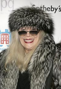 Sylvia Miles at an auction of photographer Francesco Scavullo's work benefiting Fountain House.