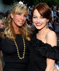Heather Parry and Emma Stone at the premiere of