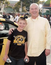 Ethan and Larry Miller at the premiere of