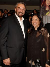 Kabir Bedi and Mira Nair at the party of