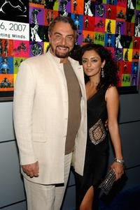 Kabir Bedi and Parveen Dusanj at the premiere of