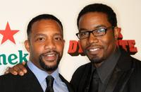 Byron Minns and Michael Jai White at the premiere of