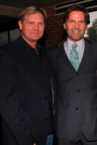 Producer Kevin Williamson and D.W. Moffett at the premiere party of