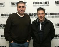 Alfred Molina and Patrick Marber at the rehearsals for Roundabout Theatre Company's new play