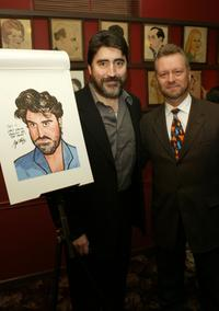 Alfred Molina and Vincent Sardi at the Sardi's Famous Wall.