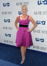 Jessica St. Clair at the USA Network 2013 Upfront Event in New York.