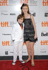 Quinn Lord and Cassandra Sawtell at the premiere of