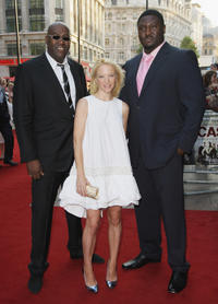 Cass Pennant, Natalie Press and Nonso Anozie at the UK premiere of