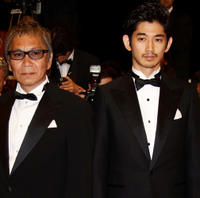 Director Takashi Miike and Eita at the premiere of