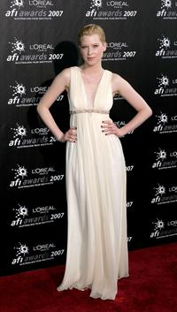 Emma Booth at the L'Oreal Paris 2007 AFI Awards Dinner.