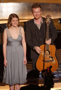 Marketa Irglova and Glen Hansard at the 80th Annual Academy Awards in California.
