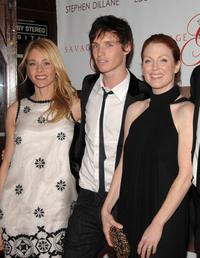 Julianne Moore, Belen Rueda and Eddie Redmayne at the premiere of
