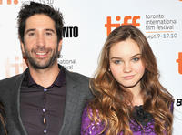 Director David Schwimmer and Liana Liberato at the Canada premiere of