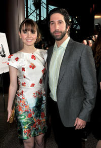 Liana Liberato and producer David Schwimmer at the California premiere of