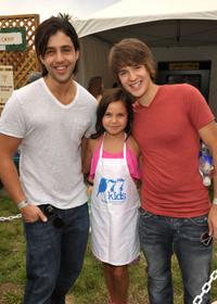 Josh Peck, Bailee Madison and Devon Werkheiser at the 21st A Time For Heroes Celebrity Picnic sponsored by Disney.