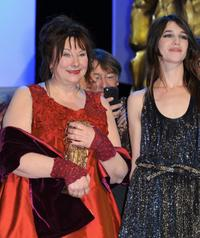 Yolande Moreau and Charlotte Gainsbourg at the Cesar Film Awards.