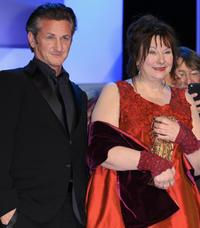 Sean Penn and Yolande Moreau at the Cesar Film Awards.