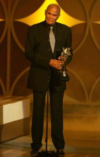Harry Belafonte as he accepts the Humanitarian Award at 2006 BET Awards.