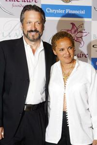 Sam Behrens and Shari Belafonte at the Lili Claire Foundations 2004 Las Vegas Benefit Gala.