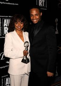 Debbi Morgan and Cornelius Smith, Jr. at the 34th Annual AWRT Gracie Awards Gala.