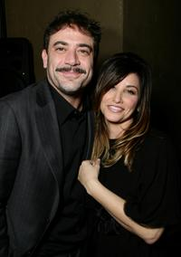 Jeffrey Dean Morgan and Gina Gershon at the after party of the premiere of