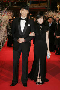 Rain and Lim Soo-jung at the premiere of