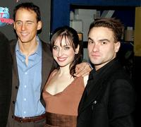 Neal Huff, Zoe Lister-Jones and Johnny Galecki at the after party of the opening night of