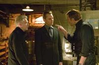 Director David Cronenberg, Viggo Mortensen and Vincent Cassel on the set of