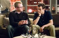 Director Jim Field Smith and Jay Baruchel on the set of