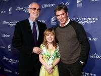 Director Mick Jackson, Krystal Nausbaum and Dermot Mulroney at the premiere of