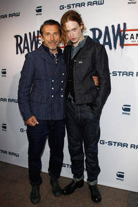 Pierre Morisset and Caleb Landry Jones at the G-Star RAW Cannes Store Opening in France.