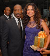 Eddie Murphy and Tracy Edmonds at the Black Enterprises Top 50 Hollywood Power Brokers Celebration.