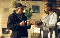 Director Karey Kirkpatrick and Eddie Murphy on the set of