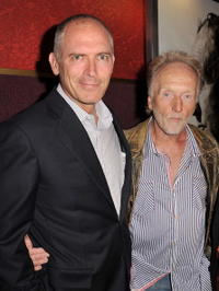 Joe Drake and Tobin Bell at the premiere of