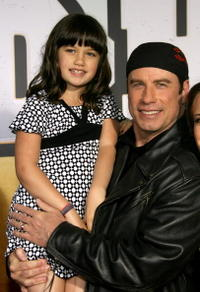 Ella Travolta and John Travolta at the premiere of