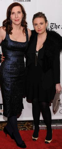 Laurie Simmons and Lena Dunham at the IFP's 20th Annual Gotham Independent Film Awards in New York.