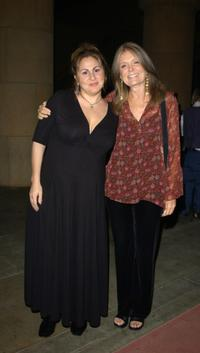 Kathy Najimy and Gloria Steinem at the screening of political thriller