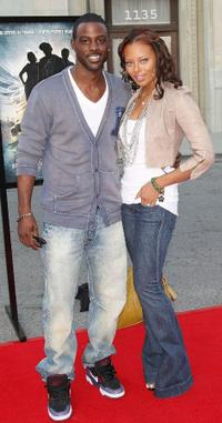 Lance Gross and Eva Marcille at the screening of