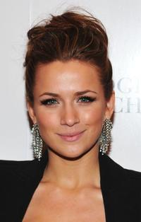 Shantel VanSanten at the Badgley Mischka Fall 2010 Fashion Show during the Mercedes-Benz Fashion Week.