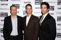 Stephen Belber, Geoffrey Nauffts and David Schwimmer at the opening night of
