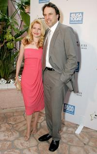 Kevin Nealon and his wife Susan Yeagley at the celebration honoring Geena Davis as this year's Hollywood Hero.