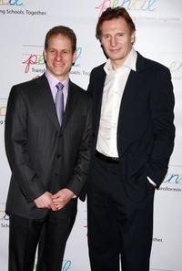 Michael Haberman and Liam Neeson at the PENCI's 2008 Spring Gala and Awards.