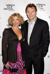 Natasha Richardson and Liam Neeson at the Chanel Tribeca Film Festival Dinner during the 2008 Tribeca Film Festival.