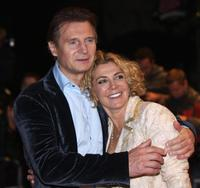 Liam Neeson and Natasha Richardson at the British premiere of