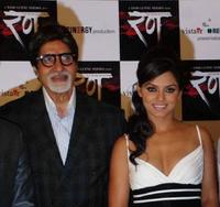Amitabh Bachchan and Neetu Chandra at the press conference of