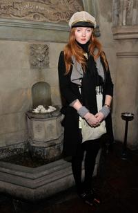 Lily Cole at the Roland Mouret's Rainbow Collection launch for NET-A-PORTER.