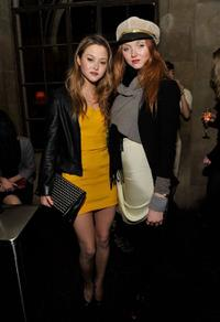 Devon Aoki and Lily Cole at the Roland Mouret's Rainbow Collection launch for NET-A-PORTER.